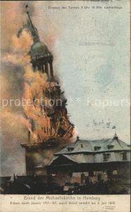 Hamburg Brand der Michaeliskirche 3. Juli 1906 Kat. Hamburg