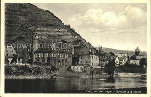 Gondorf Mosel Mosel-Panorama mit Burg von der Leyen / Kobern-Gondorf /Mayen-Koblenz LKR