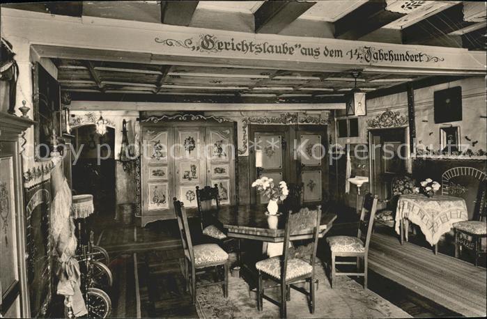 Grossholzleute Gasthof Pension Adler Gerichtslaube 14. Jahrhundert Historisches Gebaeude Spinnrad Kat. Isny im Allgaeu