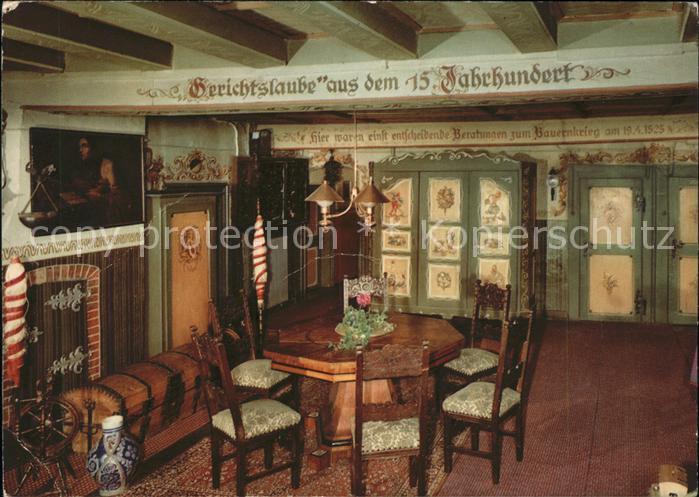 Grossholzleute Gasthof Pension Adler Gerichtslaube Historisches Gebaeude 15. Jahrhundert Kat. Isny im Allgaeu