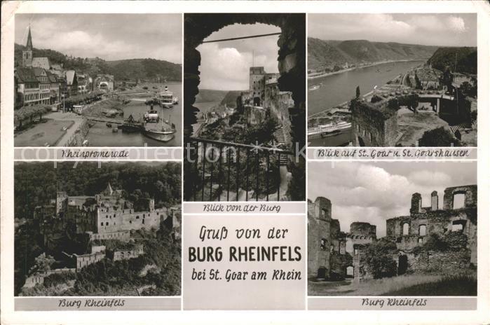 St Goar Burg Rheinfels Burg Rheinfels Goarshausen Kat. Sankt Goar