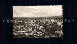 Koblenz Rhein Rhein Panorama vom Rittersturz gesehen Kat. Koblenz