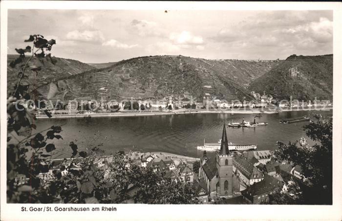 St Goar Rheinpanorama mit St.Goarshausen Kat. Sankt Goar