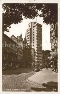 Stuttgart Tagblatt Turmhaus Autos Kat. Stuttgart