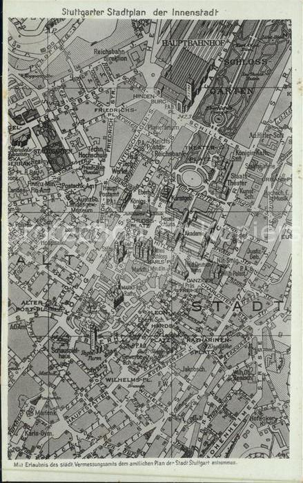 Stuttgart Stadtplan Kat. Stuttgart