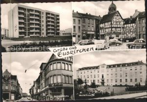 Euskirchen Marktplatz Bahnhofstrasse Marienhospital Kat. Euskirchen