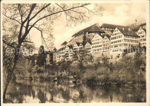 Tuebingen Neckarpartie mit Schlossblick Kat. Tuebingen