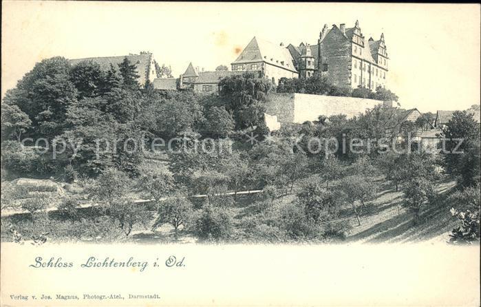Lichtenberg Odenwald Schloss Lichtenberg Kat. Fischbachtal