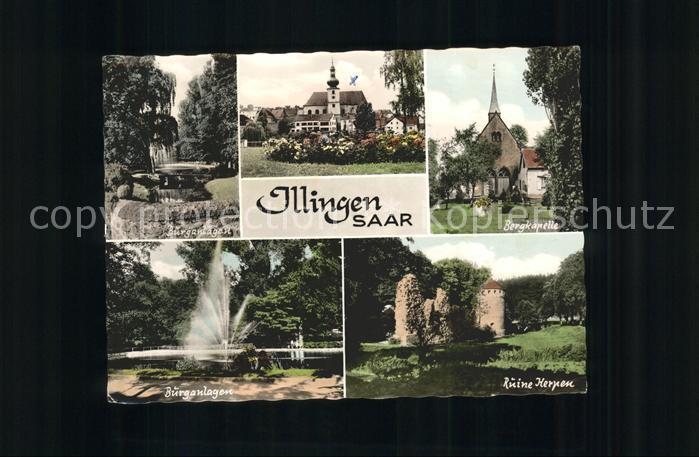 Illingen Saar Bergkapelle Burganlagen Ruine Kerpen Kat. Illingen