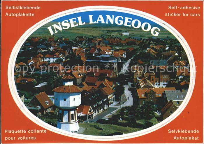 Langeoog Nordseebad Ortsansicht Autoplakette Kat. Langeoog