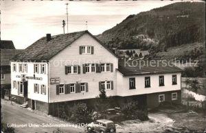 Unterschoenmattenwag Gasthaus zur Goldenen Krone Kat. Wald Michelbach