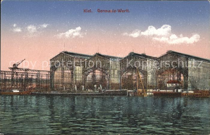 Kiel Germania Werft Kat. Kiel