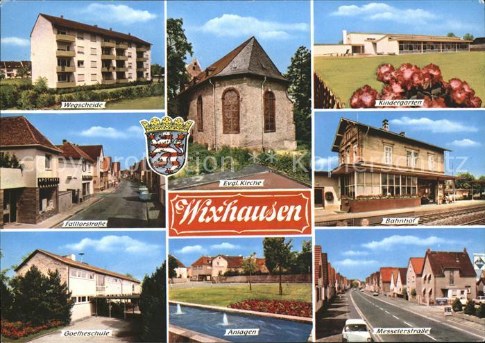 Wixhausen Wegscheide Ev Kirche Kindergarten Bahnhof Anlagen Goetheschule Messelerstr Kat. Darmstadt