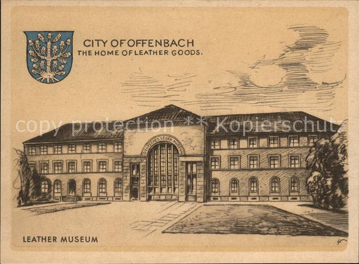 Offenbach Main Leder Museum Zeichnung Kat. Offenbach am Main