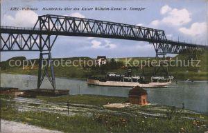 Holtenau Kiel Hochbrueke ueber den Kaiser Wilhelm Kanal Dampfer Kat. Kiel