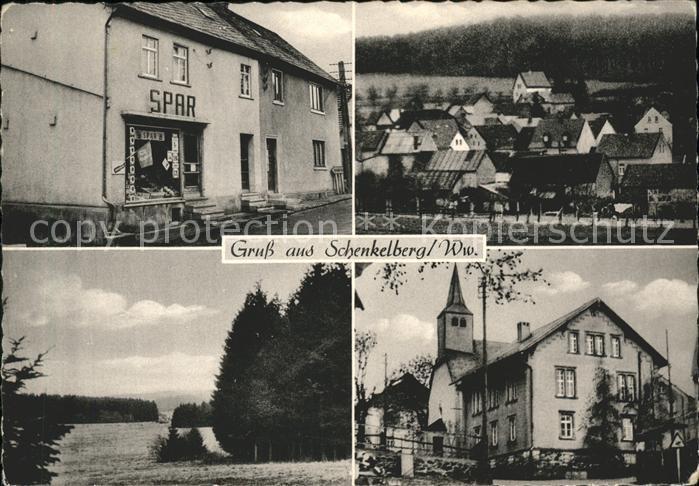 Schenkelberg Feinkost Laden Ortsansicht Kirche Waldpartie Kat. Schenkelberg