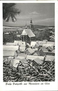 Meisenheim Glan am Glan Blick auf Schlosskirche Weihnachtskarte / Meisenheim /Bad Kreuznach LKR