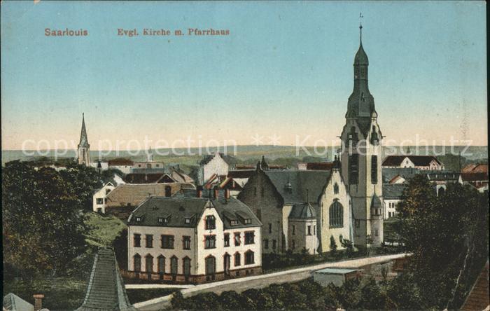 Saarlouis Evangelische Kirche und Pfarrhaus Kat. Saarlouis