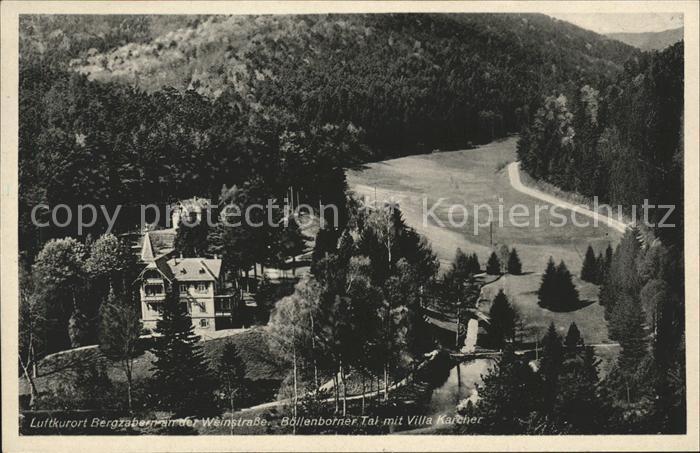 Bad Bergzabern Boellenborner Tal mit Villa Karcher Kat. Bad Bergzabern