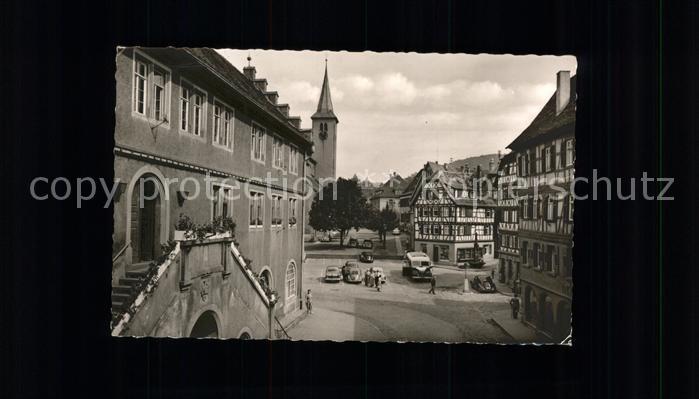 Mosbach Baden Partie am Markt Kirche Kat. Mosbach