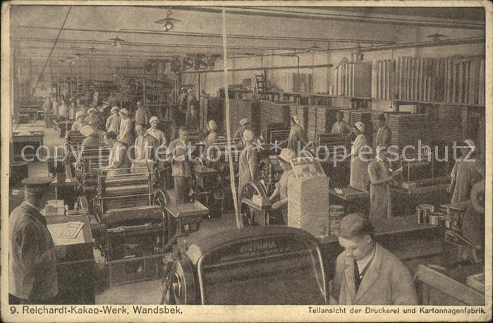 Wandsbek Reichardt Kakao Werk Druckerei und Kartonagenfabrik  Kat. Hamburg