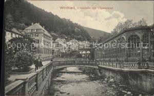 Bad Wildbad Trinkhalle mit Olgastrasse Kat. Bad Wildbad