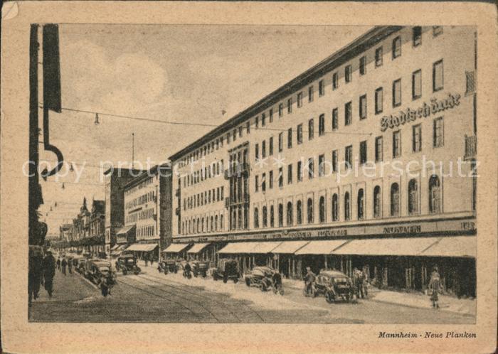 Mannheim Neue Planken mit Stadtschaenke Kat. Mannheim Nr. hf22048 ...