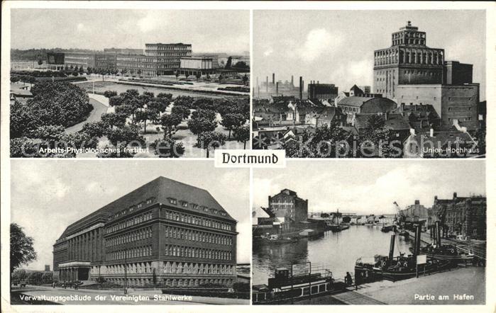 Dortmund Union Hochhaus Hafen Verwaltungsgebaeude Institut Arbeits Physiologisches Kat. Dortmund