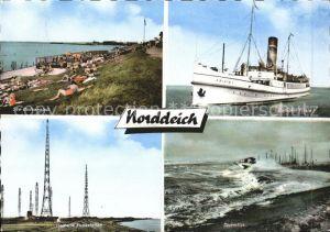 Norddeich Ostfriesland Dampfer Frisia I Funkstation Sturmflut / Norden /Aurich LKR