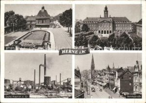 Herne Westfalen Bahnhofstr. Zeche Friedrich a. Gr. Bahnof / Herne /Herne Stadtkreis