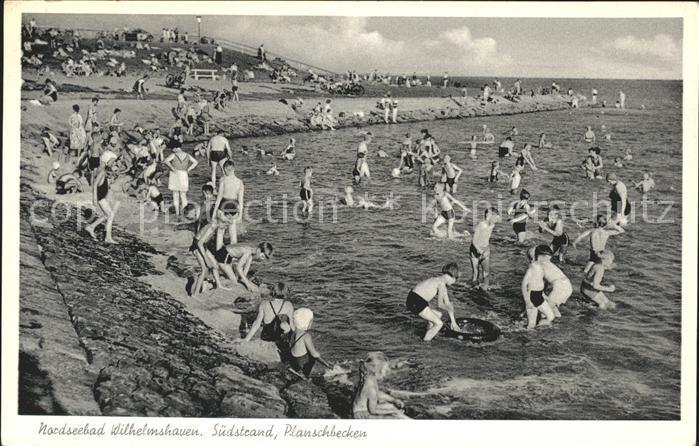 hf24233 Wilhelmshaven Planschbecken am Suedstrand Nordseebad Kategorie. Wilhelmshaven Alte Ansichtskarten