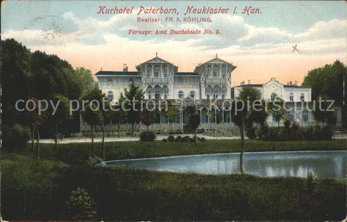 Neukloster Niederelbe Kurhotel Paterborn Teich Kat. Buxtehude