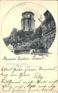 Heidelberg Neckar Schloss Achteckiger Turm mit dem Altan Kat. Heidelberg