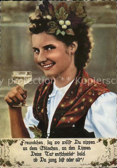 Reil Junge Frau mit Wein Kat. Reil