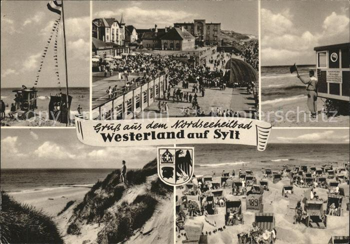 Westerland Sylt Stradn Duenen Promenade Wappen Kat. Westerland