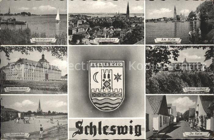 Schleswig Holstein Wappen Holm Schloss Gottorf Fliegeraufnahme Luisenbad  / Schleswig /Schleswig-Flensburg LKR