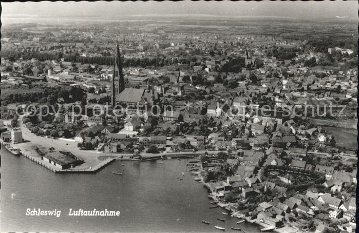 Schleswig Holstein Fliegeraufnahme Stadt / Schleswig /Schleswig-Flensburg LKR