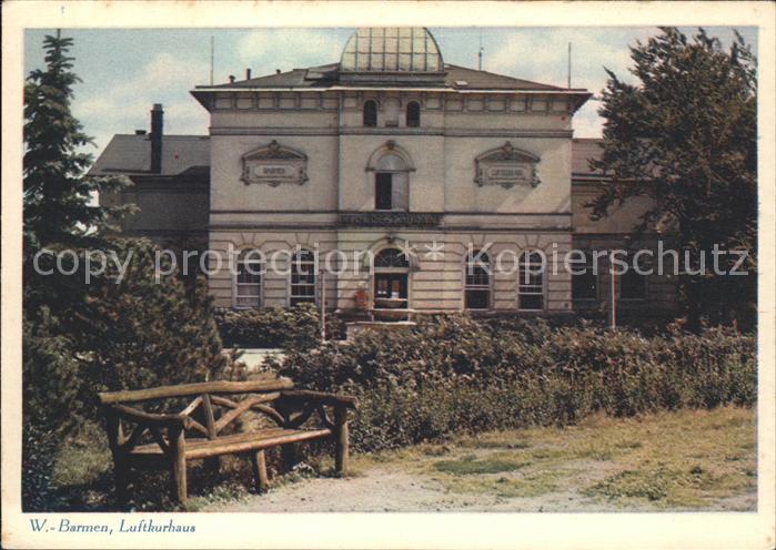 Wuppertal Barmen Luftkurhaus Kat. Wuppertal