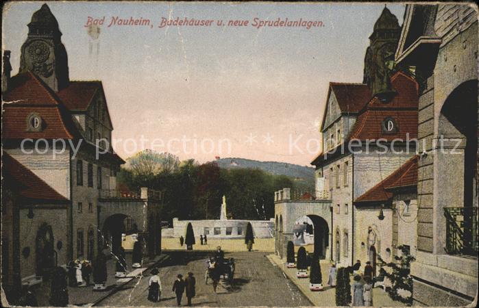 Bad Nauheim Badehaeuser und neue Sprudelanlagen Kat. Bad Nauheim