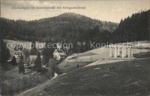 Allerheiligen Oppenau mit Kriegerdenkmal / Oppenau /Ortenaukreis LKR