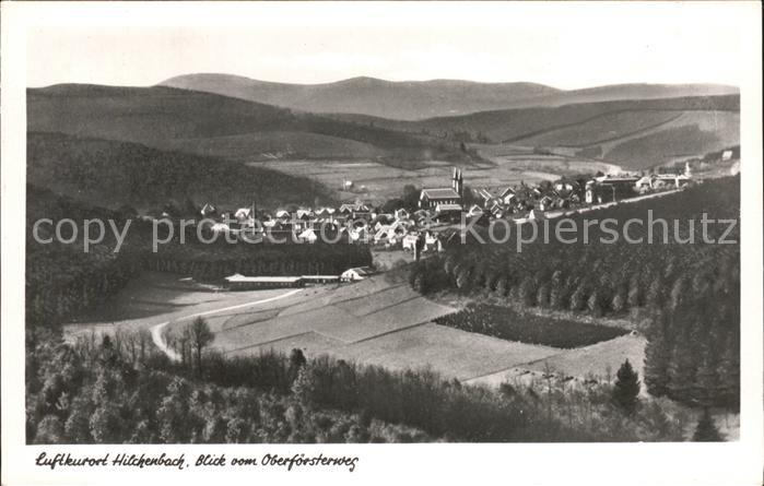 Hilchenbach Siegerland Blick vom Oberfoersterweg Kat. Hilchenbach