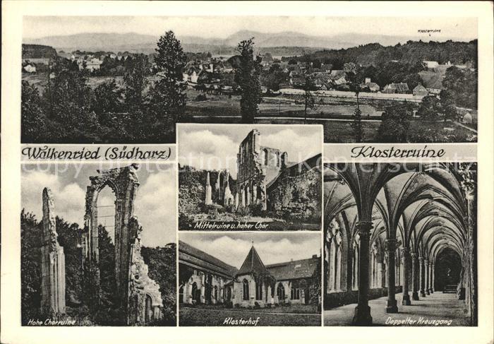 Walkenried Gesamtansicht Klosterruine Chor Kreuzgang Kat. Walkenried