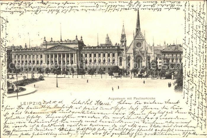 Leipzig Augusteum mit Paulinenkirche Kat. Leipzig