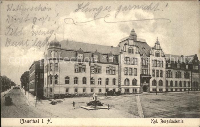 Clausthal Zellerfeld Kgl.Bergakademie Kat. Clausthal Zellerfeld