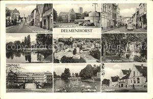 Delmenhorst Bahnhofstrasse Graft Anlagen Krankenhaus Badeleben Bahnhof Langestrasse Rathaus Markthalle Kat. Delmenhorst