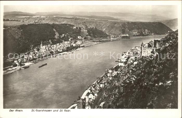 St Goarshausen St. Goar Rhein Kat. Sankt Goarshausen