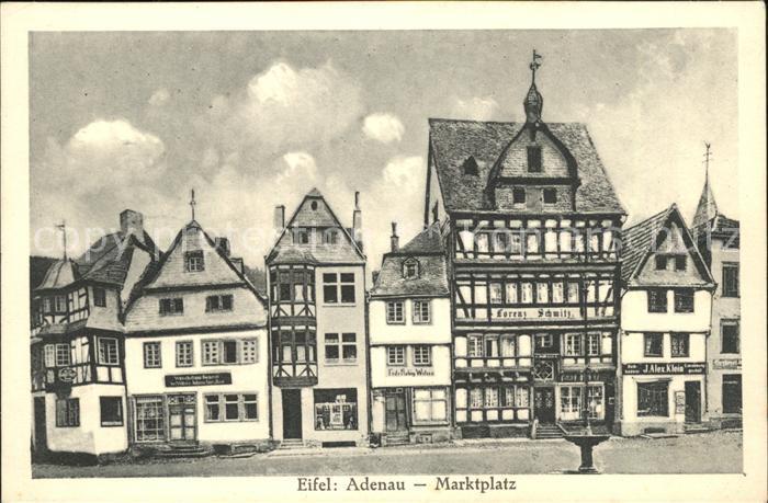 Adenau Eifel Marktplatz Kat. Adenau