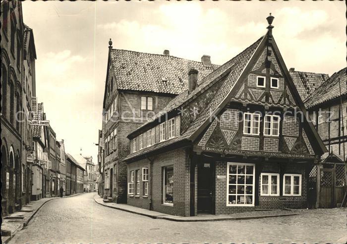 Lauenburg Elbe Am Markt mit aeltestem Haus (Stempel) Kat. Lauenburg  Elbe