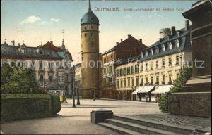 Darmstadt Ernst Ludwigsplatz mit weissem Turm (Feldpost) Kat. Darmstadt