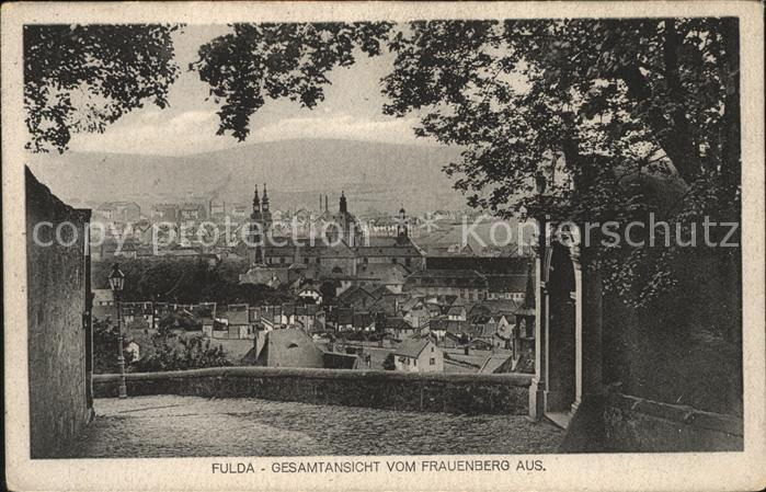 Fulda Blick vom Frauenberg auf die Stadt Kat. Fulda